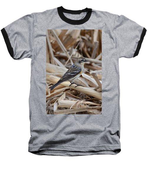 Baseball T-Shirt featuring the photograph Yellow-rumped Warbler by Debra Martz