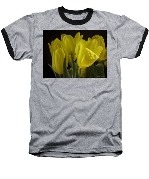 Baseball T-Shirt featuring the photograph Yellow Silk by Lucinda Walter