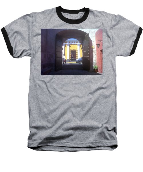 Baseball T-Shirt featuring the photograph Yellow Stucco by Lew Davis