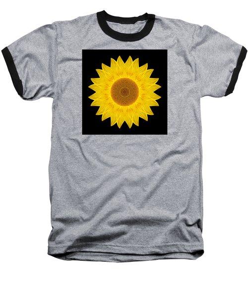 Yellow Sunflower Ix Flower Mandala Baseball T-Shirt