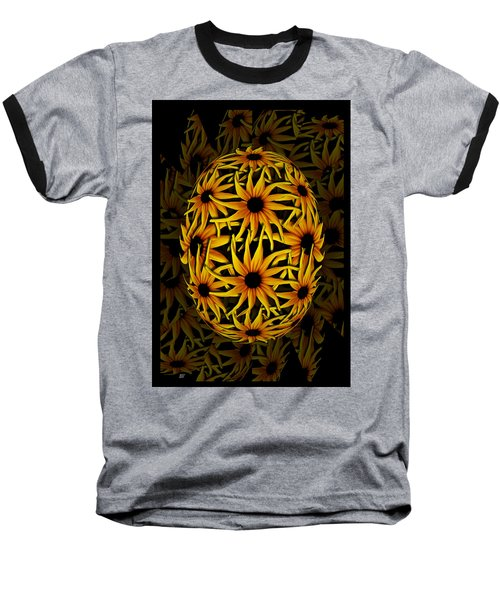 Yellow Sunflower Seed Baseball T-Shirt