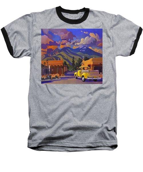 A Yellow Truck In Taos Baseball T-Shirt