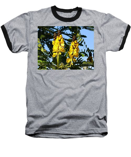 Baseball T-Shirt featuring the photograph Yellow Twins by Lew Davis