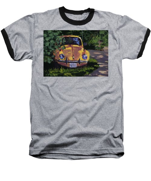 Yellow Vee Dub - Art By Bill Tomsa Baseball T-Shirt