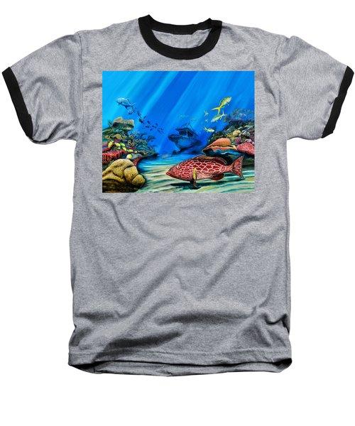 Yellowfin Grouper Wreck Baseball T-Shirt