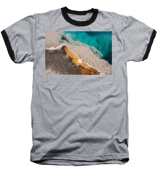 Yellowstone Abstract Baseball T-Shirt by Sue Smith