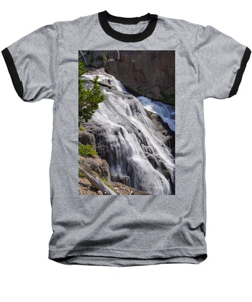 Yellowstone Gibbon Falls Baseball T-Shirt