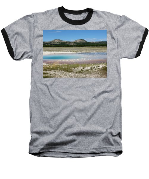 Baseball T-Shirt featuring the photograph Yellowstone Landscape by Laurel Powell