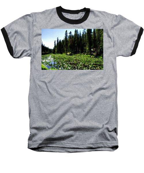 Yellowstone Lily Pads  Baseball T-Shirt
