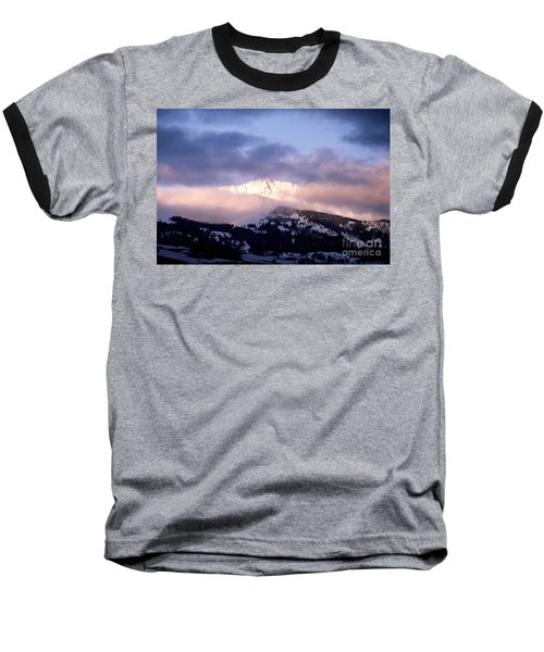 Baseball T-Shirt featuring the photograph Yellowstone Morning by Sharon Elliott