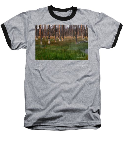 Baseball T-Shirt featuring the photograph Yellowstone Mysterious Morning by Teresa Zieba