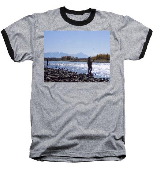 Yellowstone River Fly Fishing Baseball T-Shirt