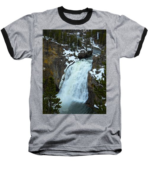 Baseball T-Shirt featuring the photograph Yellowstone Upper Falls In Spring by Michele Myers