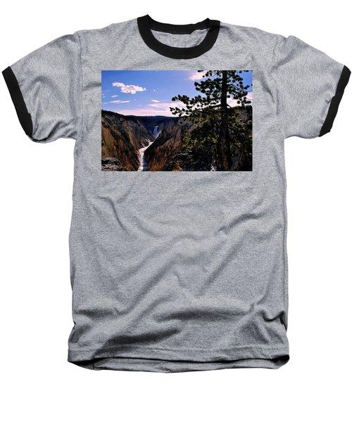 Yellowstone Waterfall Baseball T-Shirt