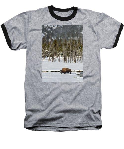 Yellowstone Winter Baseball T-Shirt