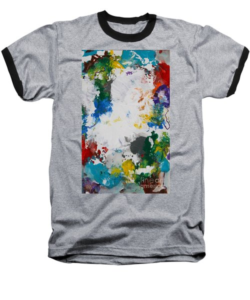 Yes Abstract Baseball T-Shirt
