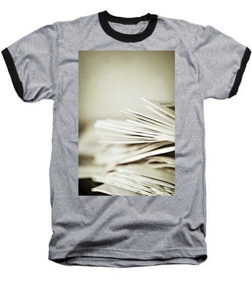 Baseball T-Shirt featuring the photograph Yesterday's News by Trish Mistric