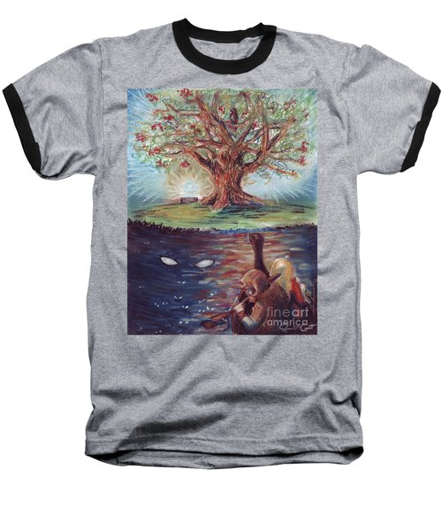 Yggdrasil - The Last Refuge Baseball T-Shirt