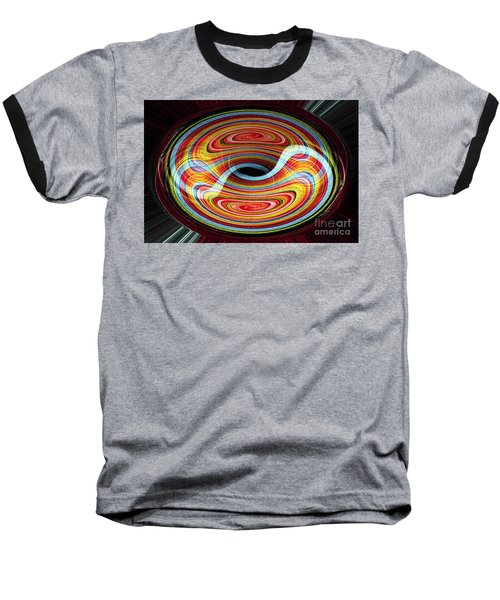 Yin And Yang - Abstract Baseball T-Shirt