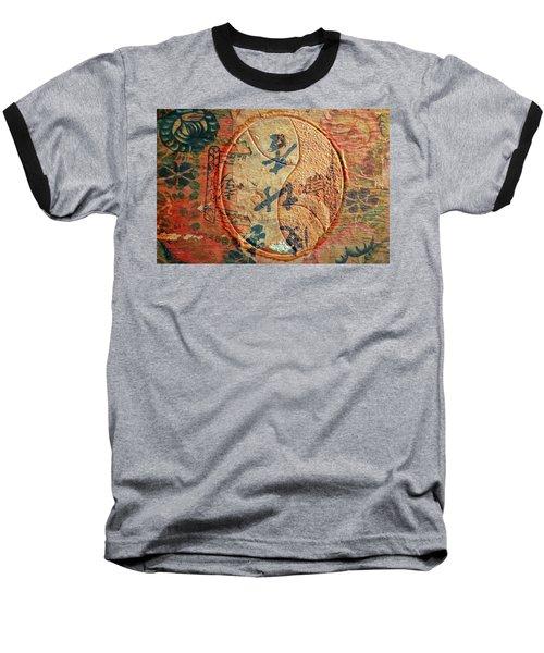 Yin-yang Expressions Baseball T-Shirt by Ed Hall