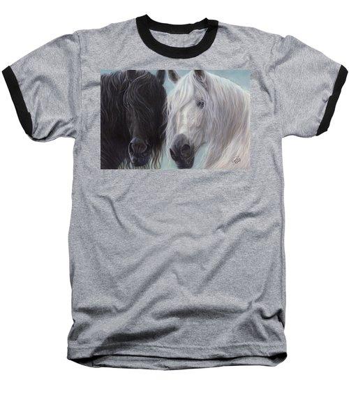 Yin-yang Horses  Baseball T-Shirt