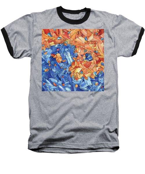 Baseball T-Shirt featuring the painting Yin-yang by James W Johnson