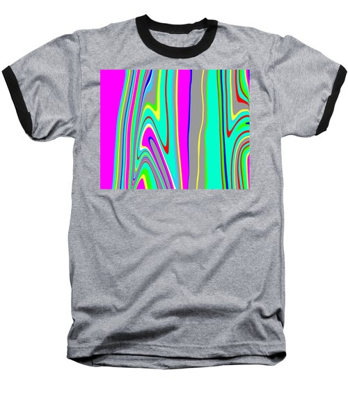 Baseball T-Shirt featuring the painting Yipes Stripes II  C2014 by Paul Ashby