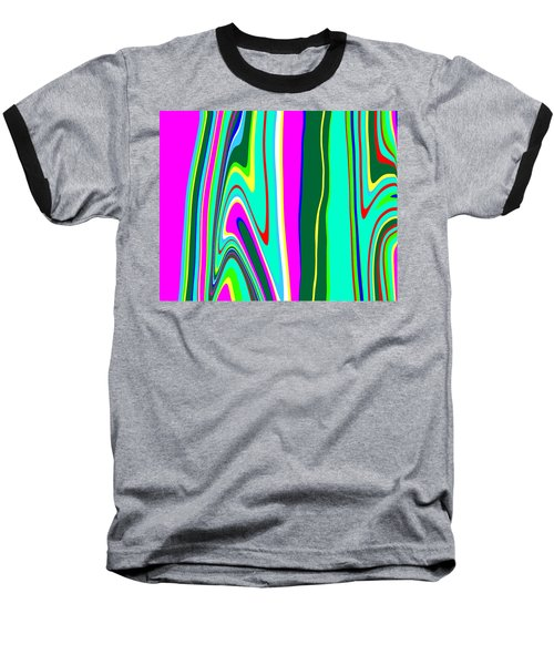 Baseball T-Shirt featuring the painting Yipes Stripes II Variation  C2014 by Paul Ashby