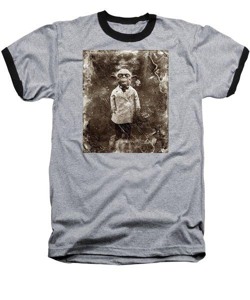 Yoda Star Wars Antique Photo Baseball T-Shirt by Tony Rubino