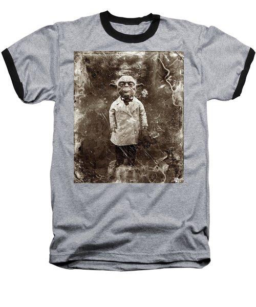 Yoda Star Wars Antique Photo Baseball T-Shirt