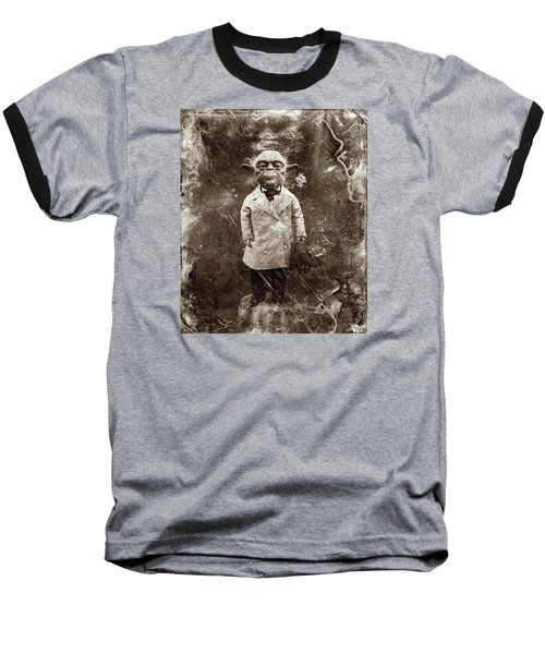Yoda Star Wars Antique Photo Baseball T-Shirt