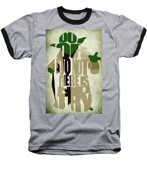 Yoda - Star Wars Baseball T-Shirt by Ayse Deniz