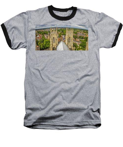 York From York Minster Tower Baseball T-Shirt