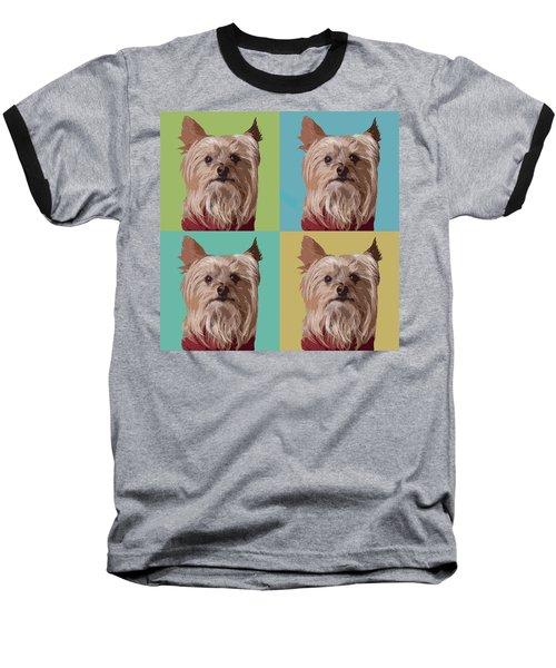 Yorkie Times Four Baseball T-Shirt