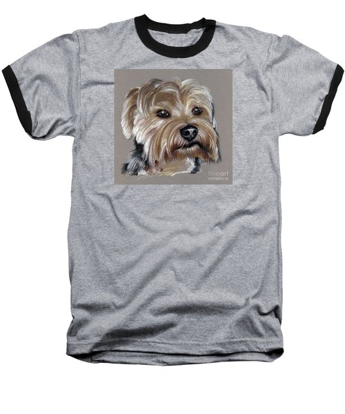 Yorkshire Terrier- Drawing Baseball T-Shirt