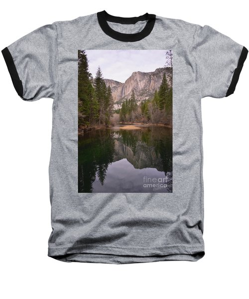 Yosemite Falls Reflection Baseball T-Shirt