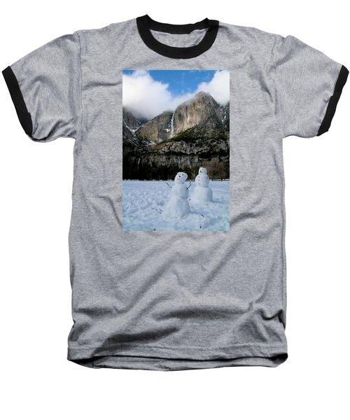 Yosemite Falls Snowmen Baseball T-Shirt