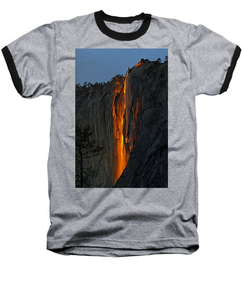 Baseball T-Shirt featuring the photograph Yosemite Horsetail Falls by Duncan Selby