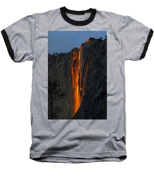 Yosemite Horsetail Falls Baseball T-Shirt