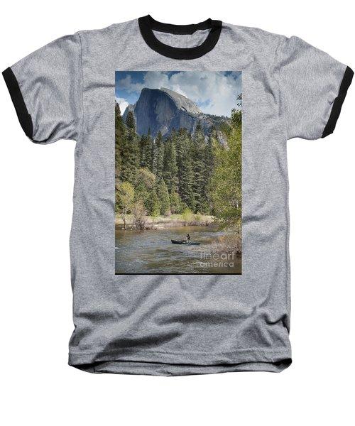 Yosemite National Park. Half Dome Baseball T-Shirt by Juli Scalzi