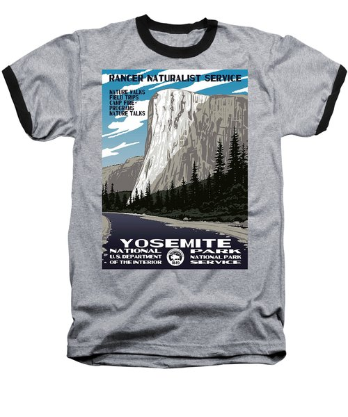 Yosemite National Park Vintage Poster 2 Baseball T-Shirt