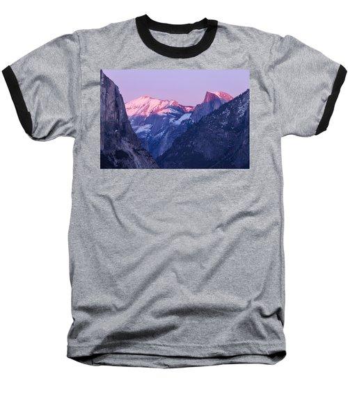 Yosemite Valley Panorama Baseball T-Shirt