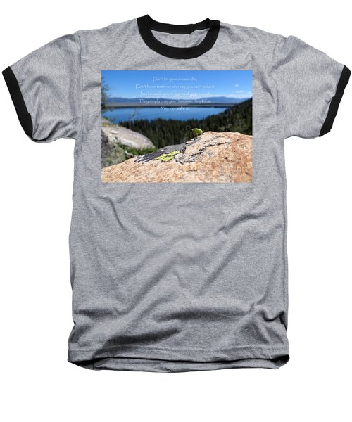 Baseball T-Shirt featuring the photograph You Can Make It. Inspiration Point by Ausra Huntington nee Paulauskaite