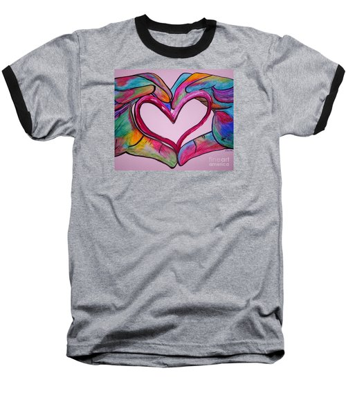 You Hold My Heart In Your Hands Baseball T-Shirt by Eloise Schneider