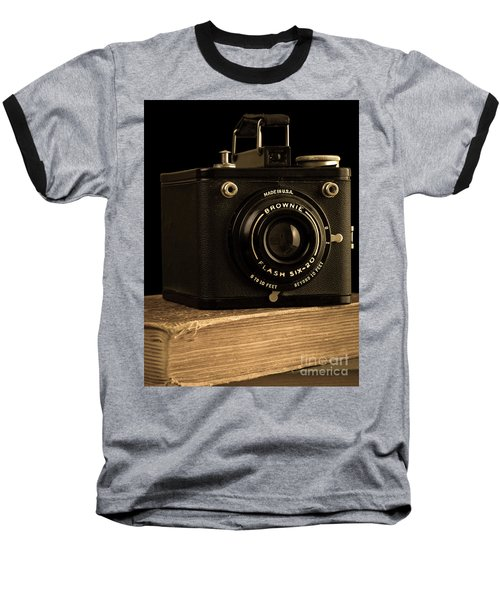 You Push The Button We Do The Rest Kodak Brownie Vintage Camera Baseball T-Shirt