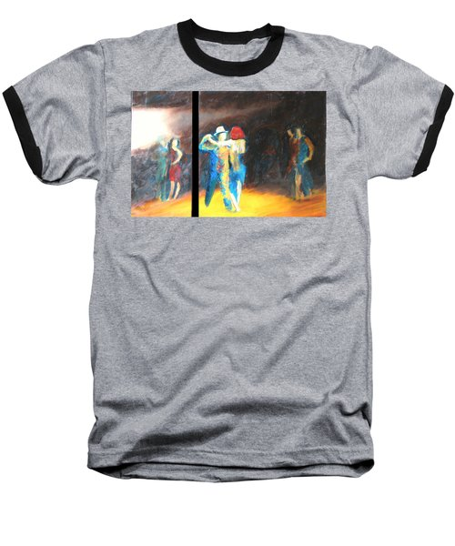Baseball T-Shirt featuring the painting You Shine  Diptych by Keith Thue