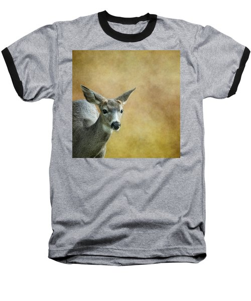 Baseball T-Shirt featuring the photograph Young Buck by Belinda Greb