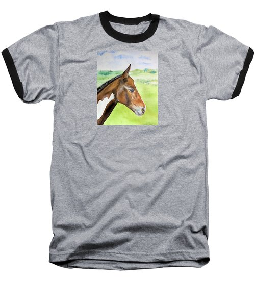 Baseball T-Shirt featuring the painting Young Cob by Elizabeth Lock