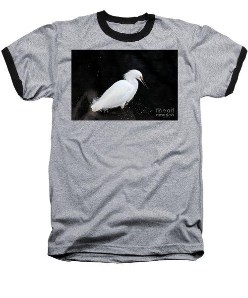 Young Snowy Egret Baseball T-Shirt by Susan Wiedmann