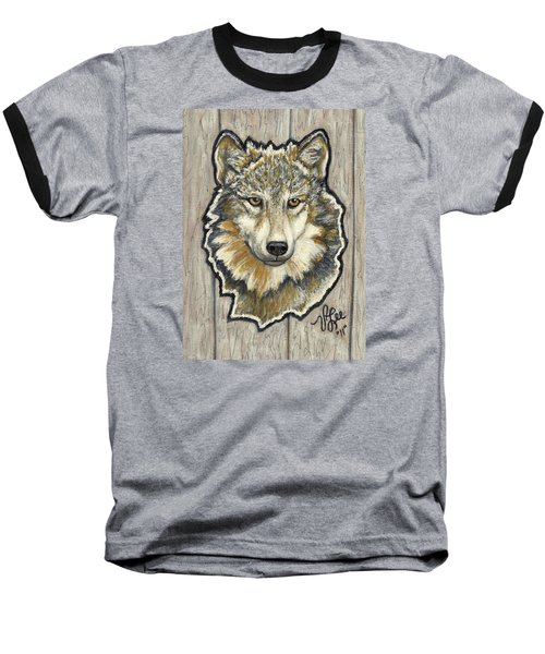Baseball T-Shirt featuring the painting Young Wolf by VLee Watson